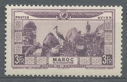French Morocco, Rabat, 3f., 1928, MH VF, Airmail - Maroc (1891-1956)
