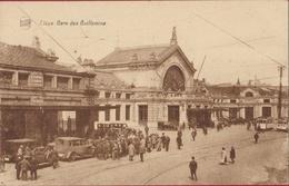 Luik Liege Gare Des Guillemins Animee Voiture Oldtimer Tram Tramway Station (En Très Bon état) (In Zeer Goede Staat) - Liege