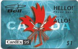 Canada - Bell - Hello! - CardEx '95, Remote Mem. 1$, 08.1995, 2.000ex, Mint - Canada