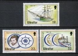 Gibraltar 1988. Yvert 567-69 ** MNH. - Gibilterra