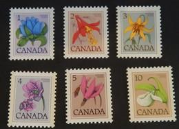 Canada  1977 Y&T 625 A 630 , 6 Valeurs Flowers  , MINT NH Neuf Sans Charniere - Ongebruikt