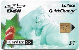 Canada - Bell (Chip) - Cardex '95, Polar Bear, 1$, 09.1995, 4.000ex, Used - Canada