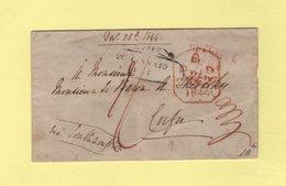 Grande Bretagne Destination Corfu Via Southampton - 1844 - Marcophilie