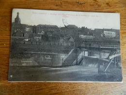 BERLAIMONT:BARRAGE DISTRIBUANT LES EAUX DE LA SAMBRE  AU CANAL DU CHANTIER -1907 - Berlaimont