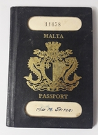 MALTA RARE PASSPORT 1966 WITH STAMPS - Historical Documents