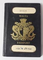 MALTA RARE PASSPORT 1966 WITH STAMPS - Historische Dokumente