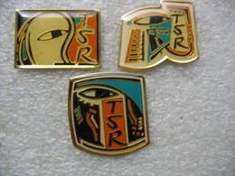 3 Pin's De La Chaine De Télévision Suisse TSR (Télévision Suisse Romande) - Medias