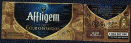 Belgique Lot 2 Étiquettes Bière Beer Labels Affligem Cuvée Coeur De Châtaignes - Beer