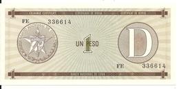 CUBA 1 PESO ND1985 UNC P FX32 - Cuba