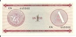 CUBA 1 PESO ND1985 UNC P FX1 - Cuba