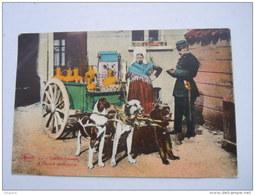 België Belgique Laitière Flamande Attelage De Chiens Police Melkboerin Honden Kar Circulée 1928 Ypres-> Aulnois - Marchands Ambulants