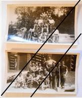 """80 . SAINT BLIMONT . Lot De 2 PHOTOS  """" Chantier LEVEQUE ( L'évèque ! ) 1950  à SAINT BLIMONT   ** - Other Municipalities"""
