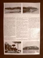 Lago Trasimeno 2 Ottobre 1927 Inaugurazione Del Servizio Di Navigazione S.A.N.T. - Immagine Tagliata