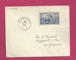 Lettre De 1939 Pour La Suisse - YT N° 63 - Curie - Radium - Brieven En Documenten