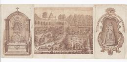 1887 O.L.V. VAN DEN OUDENBERG GERAARDSBERGEN 4-LUIK TRANSLATIONE DILUCESCAM Santini Image Pieuse Holy Card - Devotieprenten