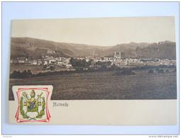Malmedy - Panorama Armoiries Circulée 1912 Edit Aachener Verlags Und Druckerei - Malmedy