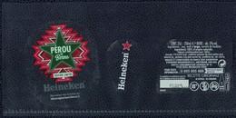 France Lot 3 Étiquettes Bière Beer Labels Bière Heineken Pérou By Berns Street Art - Beer