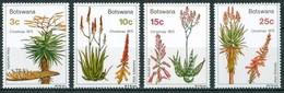 BOSTWANA    1975  Plantes Médicinales Natale Christmas 4 Values   MINT NH Neuf Sans Charniere - Botswana (1966-...)
