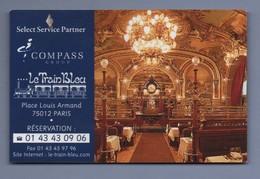 RESTAURANT LE TRAIN BLEU 75012 PARIS - CARTE DE VISITE *015* - Visitenkarten