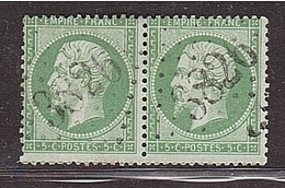 DORDOGNE St PRIVAT GC 3826 Sur Paire 5c Empir Dent. - Marcophily (detached Stamps)