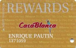 CasaBlanca Casino Mesquite NV - Slot Card - Casino Cards