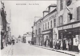 F91-028 MONTGERON - RUE DE PARIS - ÉPICERIE CENTRALE / BAR TABAC CAFÉ - CARTE RÉÉDITÉE - Montgeron