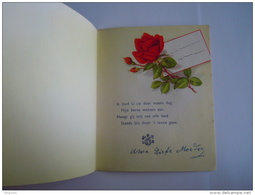 Rozen Roses Verjaardag Anniversaire Carte Double Dubbele Kaart Form 12,5 X 15 Cm Printed In U.S. Zone Germany Ilo 3651 - Fleurs