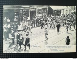 BRUXELLES 1830  -  1905 ANNIVERSAIRE INDÉPENDANCE BELGIQUE CORTÈGE FÊTE DES HALLES ET MARCHÉS BRUXELLOIS CARTES POSTALES - Festivals, Events