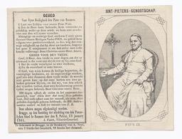 1861 BRUGGE SINT-PIETERS-GENOOTSCHAP PAUS PIUS IX Santini Image Pieuse Holy Card - Devotion Images