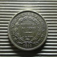 Bolivia 50 Centavos 1899 Silver - Bolivia