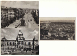 3 Cards Prag: Strassenbahn ( Tram ) / National Museum / Mala Strana - Slovénie
