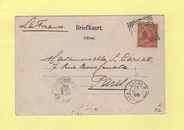 Indes Neerlandaises - Destination France Via Ligne N - 1899 - Cpa Stadspoort Batavia - Nederlands-Indië