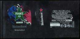 France Lot 3 Étiquettes Bière Beer Labels Bière Heineken France By Flab Street Art - Beer