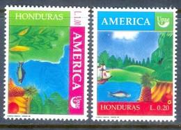 D62- Honduras, Stamp AMERICA UPAE 1990, Corn, Fish, Fruits, Par. - Fishes