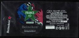 France Lot 3 Étiquettes Bière Beer Labels Bière Heineken France By Flab Street Art - Birra
