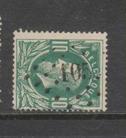 COB 30 Oblitération à Points 105 ECAUSSINES +7 - 1869-1883 Leopold II.