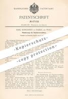 Original Patent - Karl Kirschner , Radlic / Prag  1892 , Plombierzange Für Flaschenverschluss | Plombe | Zange , Flasche - Historische Dokumente