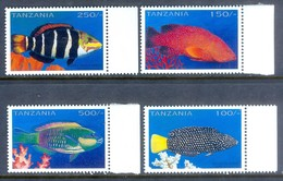 D66- Tanzania 1996 Fish. Sea Life. Marine Life. - Fische