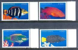 D66- Tanzania 1996 Fish. Sea Life. Marine Life. - Fishes