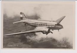 Vintage Rppc Douglas Dc-3 AERO-HOLLAND PH-TRA Aircraft - 1919-1938: Entre Guerres