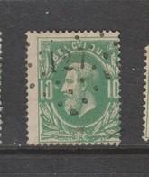 COB 30 Oblitération à Points 127 FLERON +6 - 1869-1883 Leopold II