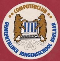 Sticker Autocollant Computerclub Berlaar Bear Ours Beer Gemeentelijke Jongensschool Heraldry Heraldiek Aufkleber Adesivo - Autocollants