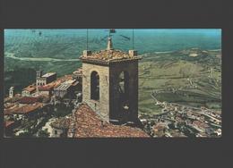 San Marino - Veduta Della Citta Alta E Borgo Maggiore - Mini Card 7,4 X 14,8 Cm - Saint-Marin