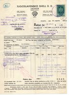 1936 YUGOSLAVIA, CROATIA, ZAGREB, JUGOSLAVENSKO SHELL D.D. INVOICE ON LETTERHEAD, 1 FISKAL STAMP - Invoices & Commercial Documents