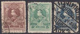 SIAM - 1923/1924 - Lotto Di 3 Valori Usati: Yvert 172, 173 E 175. - Siam