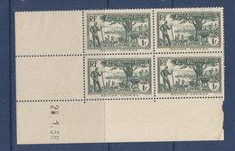 COTE D'IVOIRE 124  BLOCS DE 4 COIN DATE MANQUE DE GOMME DANS LES BORDS DE FEUILLE LUXE NEUFS SANS CHARNIERE - Ivory Coast (1892-1944)