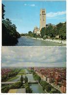 2 Cards München:: München Isarpartie - Brücke ( Bridge Ponte ) / Deutsches Museum Mit Sternwarte ( - Slovénie