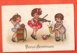 PEPD-37 Heureux Anniversaire Orchestre De Fillettes, Circulé 1930 - Anniversaire