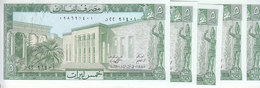 LEBANON 5 LIVRES LIRA 1986 P-62d LOT X5 UNC NOTES */* - Lebanon