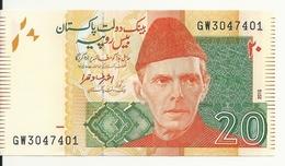 PAKISTAN 20 RUPEES 2015 UNC P 55 I - Pakistan